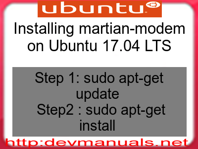 Installing martian-modem on Ubuntu 17.04 LTS